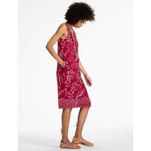 Lucky Brand Red Batik Sleeveless Dress L
